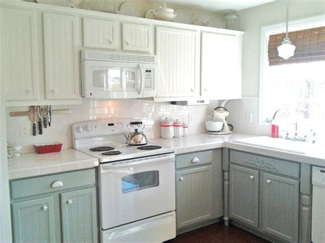 gray kitchen white cabinets painting oak cabinets white and gray diy
