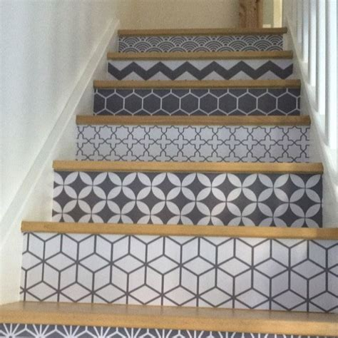 Peel And Stick Tile Decals by Vinyl Sticker For Stairs Easy Peel And Stick For Instant