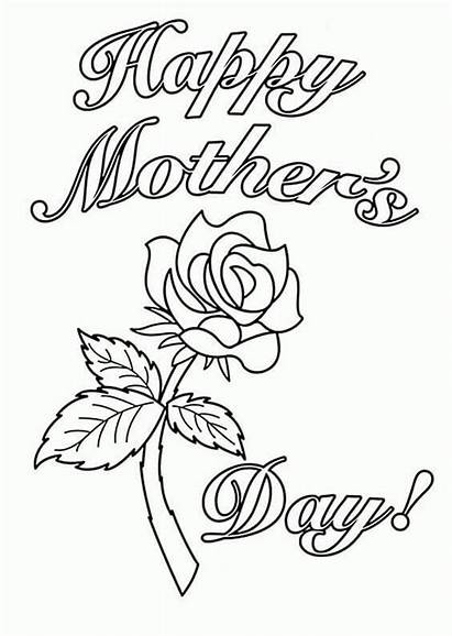 Coloring Pages Happy Mother Mothers Greeting Card