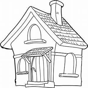 coloriage maison les beaux dessins de autres a imprimer With dessin de maison en bois