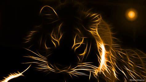 Golden Abstract Tiger Wallpaper