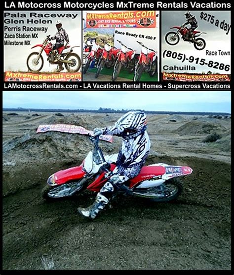 rent motocross bike dirt bikes la los angeles motocross dirt bike vacation