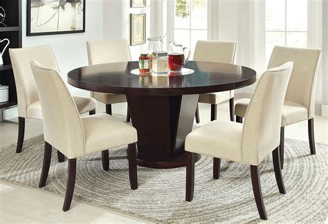 rees espresso  dining table  lazy susan