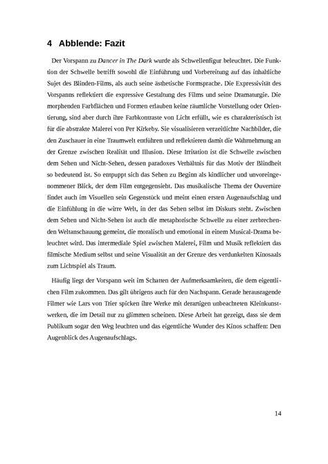 Fazit Wissenschaftliche Hausarbeit Beispiel Essay