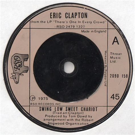 Eric Clapton Swing Low Sweet Chariot by Eric Clapton Swing Low Sweet Chariot Records Lps Vinyl