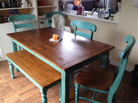teal kitchen table teal table refinished refinished kitchen table