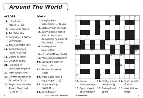 Large Print Crosswords Magazine