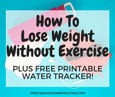 lose weight exercise printable water tracker