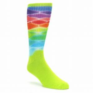 Lime Green Multi Men's Bamboo Tie Dye Socks bambuz