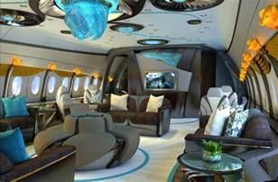 HD wallpapers private jet interior design