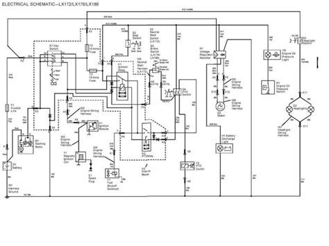 electrical schematic   deere lx