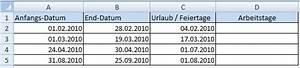 Access Datum Berechnen : arbeitstage office ~ Themetempest.com Abrechnung