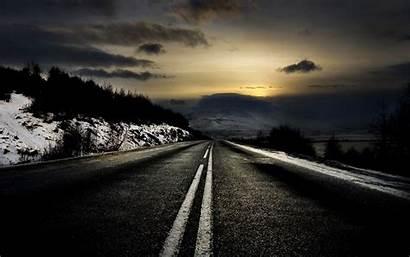 Amazing Road Evening Nature Wallpapers Desktop Mobile
