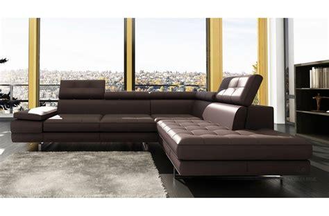 canap chocolat canapé d 39 angle en cuir 5 6 places mobilier privé