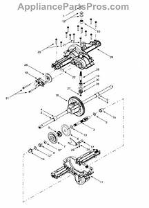 Parts For Yard Machines 13bk608g129    2001  Differential