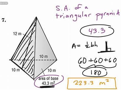 Pyramid Triangular Volume Worksheet Surface Area Triangle