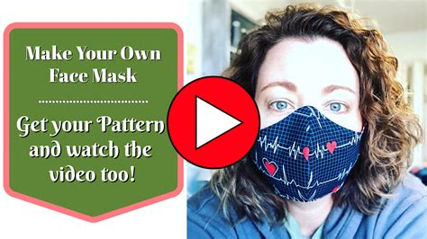face mask pattern  sew  moore