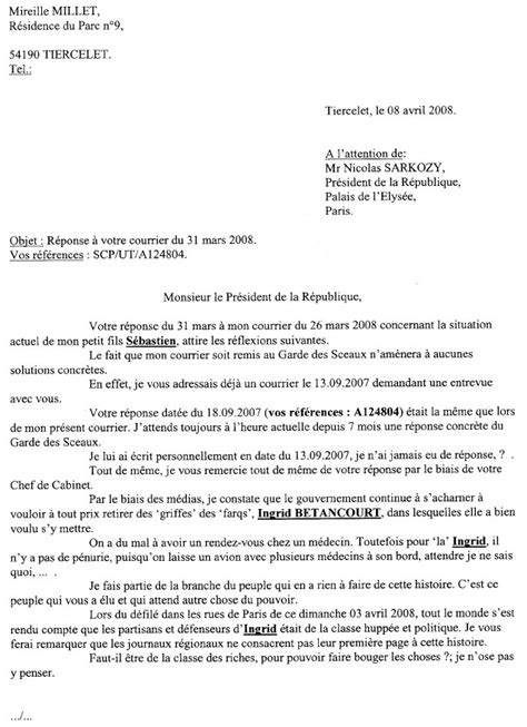 modele de lettre pour le president de la republique gratuit id 233 e modele lettre a mr le president