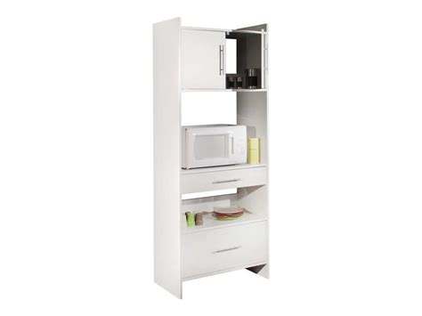 Meuble Pour Four Encastrable Chez Ikea by Desserte Haute 2 Tiroirs 2 Portes Valy Coloris Blanc