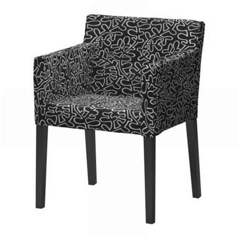 Ikea Nils Dining Chair Covers by Ikea Nils Chair W Armrests Slipcover Cover Eslov Black White