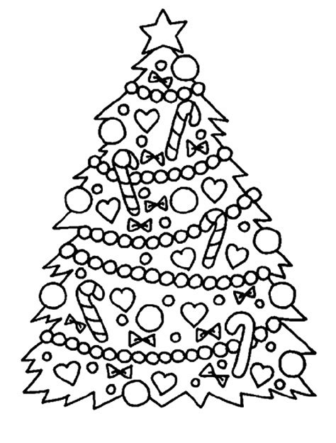 christmas tree coloring pages coloringmates