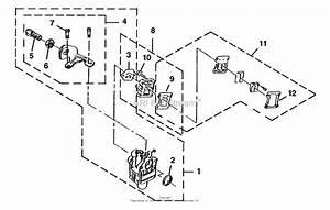 Homelite Gt40b Trimmer  Brushcutter Ut-26057 Parts Diagram For Carburetor - Heat Dam