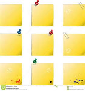 post it templates royalty free stock photo image 18622085