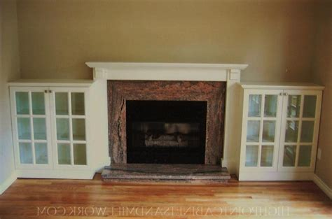 bookcase  fireplace
