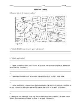 16 best images of speed and motion worksheet speed and