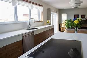 armoires de cuisine en placage de noyer cuisines despro With cuisine en noyer et blanc