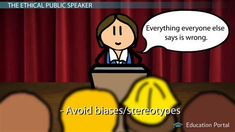 ethical speaker guidelines issues video