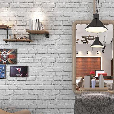 waterproof white brick effect wallpaper  wall papar roll