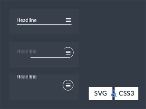 Wanna learn svg & animation deeply? SVG CSS3 Menu icon animation by Aaron Iker on Dribbble