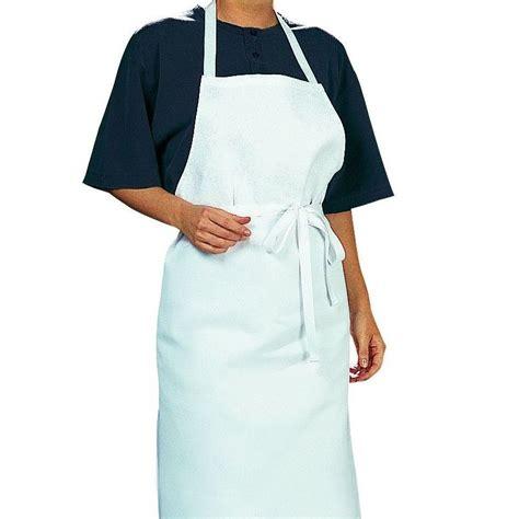 tablier cuisine tablier cuisine à bavette bistro blanc coton sergé