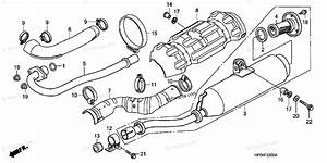 Honda Atv 2006 Oem Parts Diagram For Muffler