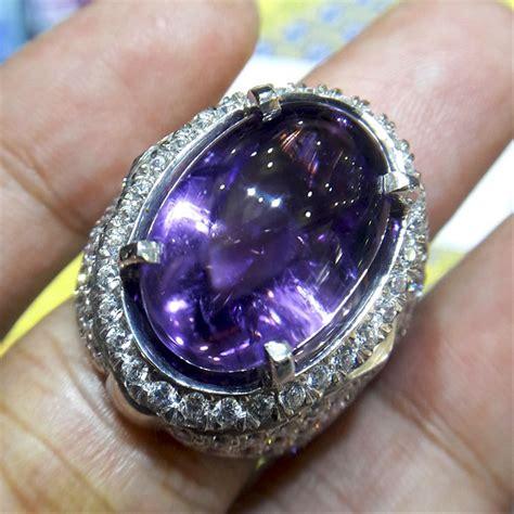 jual cincin pria batu kecubung kalimantan 0070 perak handmade cincin dan batu batu permata di