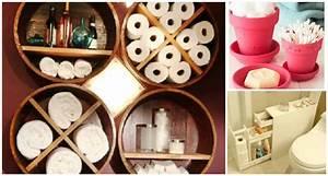 Creative, Diy, Small, Bathroom, Storage, Ideas