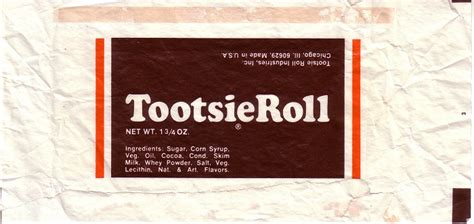 1960s Tootsie Roll – Candy Wrapper Archive