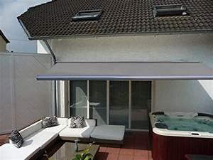 elektrische kassettenmarkise 600x300cm test With markise balkon mit tapeten grau silber gestreift