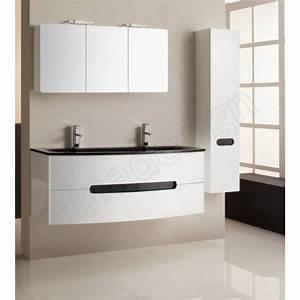 Meuble salle de bain noir et blanc for Meuble salle de bain noir et blanc