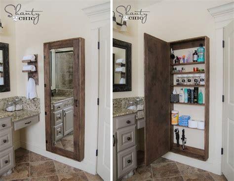 Rustic Bathroom Organization Cabinet Cheap Diy Upgrades