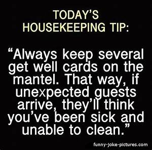 Today's Housekeeping Tip ~ Funny Joke Pictures