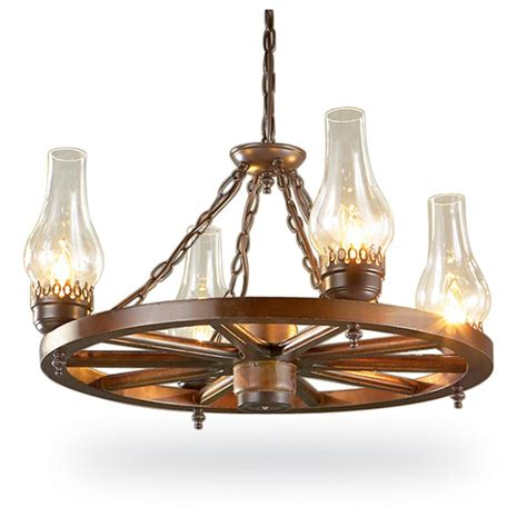 24 quot wagon wheel chandelier 95873 lighting at sportsman