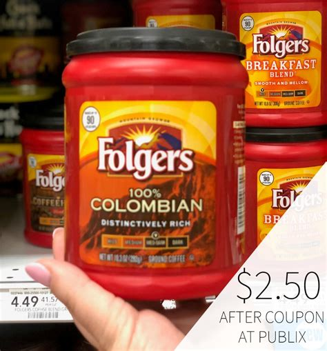 Visit calorieking to see calorie count and nutrient data for all portion sizes. Folgers Coffee Just $2.50 At Publix
