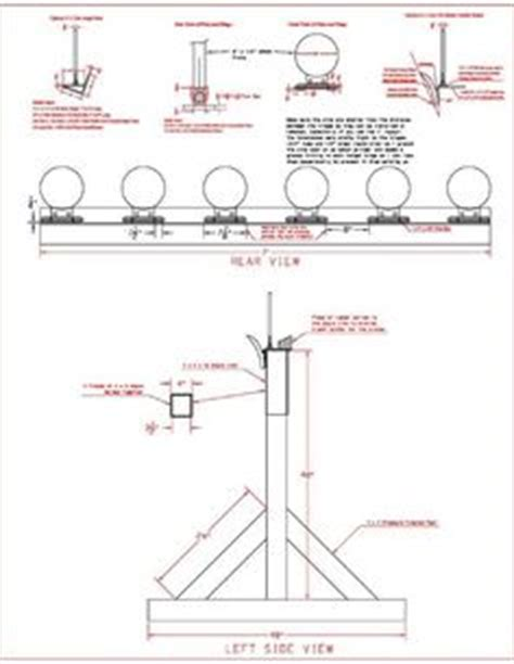plate rack target plans  lever  resets  plates  pulled   rope