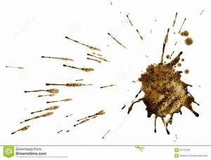 Coffee Splatter Isolated On White. Path. Stock Photos ...