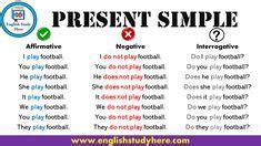 simple present tense present simple presente simple