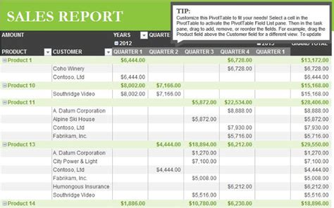 sales report template  excel   xlsx temp