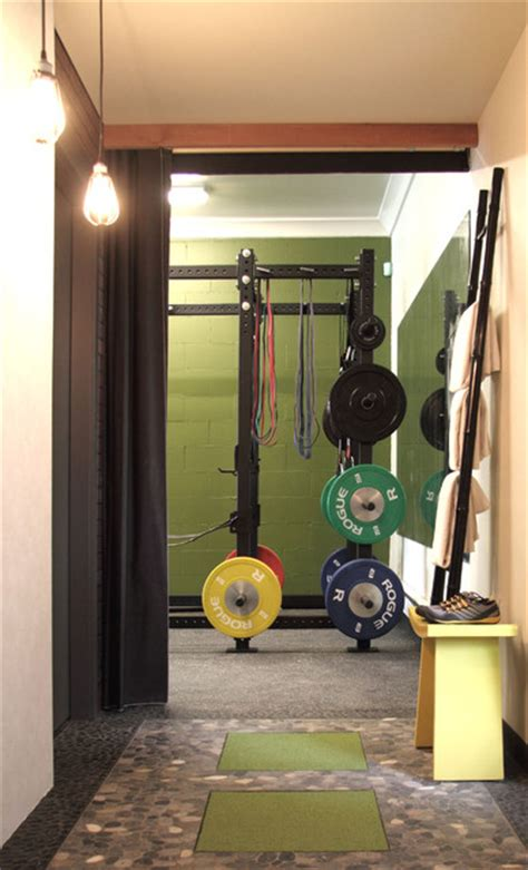 work studio entrance contemporary home gym