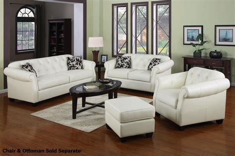White Leather Sofa And Loveseat coaster kristyna 502551 502552 white leather sofa and